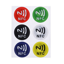 6x NFC smart tag stickers tag adhesive label for android 13.56 MHz waterproof JH