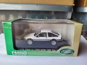 EBBRO OLDIES - TOYOTA COROLLA LEVIN AE86 [WHITE] VHTF MINT *COMBINED POST*