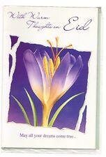 EID CARD EID MUBARAK With Warm ThoughtsOn eid Islam Celebration Card GREETING