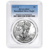2019-W Burnished $1 American Silver Eagle PCGS SP69 Blue Label