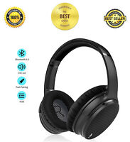 Bluetooth Headset Deep Bass Headphone Active Noise Cancelling Over-Ear, with Mic