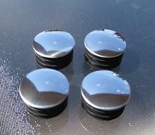 """4 - 1 1/4"""" Round Chrome Head / Plastic Base Plug End Cap Cover for Pipe 1-1/4"""""""