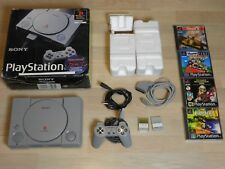 Playstation 1 / PS1 + Controller + Spiele + Kabel in OVP SCPH-1002