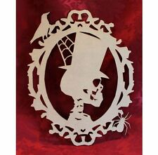 MDF Wooden Wooden Scary Skull Halloween laser cut door plaque decoration Craf...