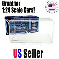 1:24 Scale Acrylic Display Case for Diecast Model Toy Cars figures bobble heads