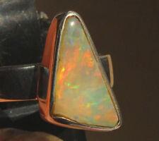 Multicolor Crystal Opal 2 quilates 950er anillo de plata tamaño 17,8 mm