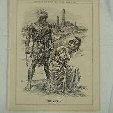 """7x10 """"punch Cartoon 1912 la victime de guerre du charbon"""