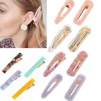 12x Resin Acrylic Hair Clip Geometric Alligator Clips Hair Barrettes Hair CliNNV