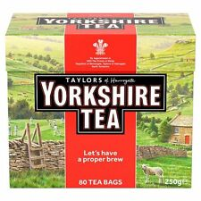 Taylors Yorkshire 80 Teabags 250G - Sold Worldwide from UK