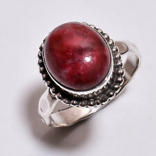 925 Sterling Silver Hammered Ring Size US 8.25, Jasper Handcrafted Jewelry R3934