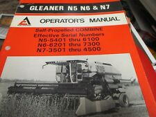 Heavy equipment manuals books for gleaner combine ebay allis chalmers gleaner n5 n6 n7 self propelled combine operators manual 1983 publicscrutiny Images