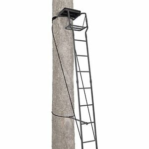 Ameristep 15 Ft Ladderstand Deer Hunting Tree Stand safety harness/Cushion Seat
