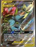 FULL ART Celebi & Venusaur GX Tag Team ULTRA RARE Pokemon SM167 Black Star Promo
