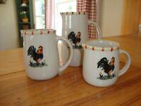 Vintage Ceramic Measuring Cups Pitchers
