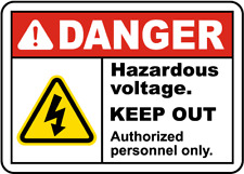 "Hazardous Voltage Keep Out Sign 8""x12"" .040″ Aluminum English/Spanish E3448"