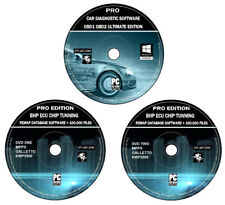 ELM 327 OBD 1 OBD 2 Pro Car Diagnostic Software + ECU Remapping Tuning BHP DVD