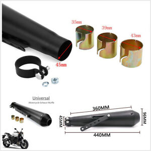 "17.5"" Exhaust Pipe Muffler DP Killer Silencer for Motorcycle Street Dirt Bike"
