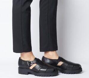 Vagabond Kenova Chuncky Black Leather Sandals 39/UK 6
