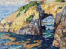 More details for antique impressionist seascape oil painting