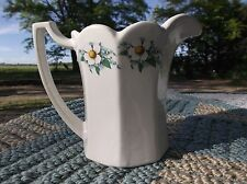 Vintage Mccoy Lancaster Colony corn flower milk pitcher w/scalloped edge #7533