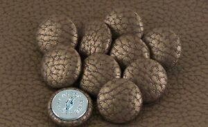 10 Upholstery buttons in Antique Bronze Faux leather 25mm