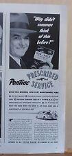 1942 magazine ad for Pontiac - Prescribed Low Cost Service, maintenance plan WW2