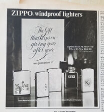 1975 Vintage ZIPPO Windproof Cigarette Lighters Golfer Golf Ad