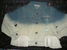 NAARTJIE GIRLS BLEACHED DENIM JACKET W/ANGLAISE-NWT