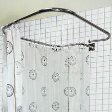 ACCIAIO INOX RETTANGOLARE QUADRATO BINARIO doccia e anelli per tende ba4025
