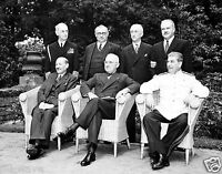 1945 Photo Potsdam Conference- Harry Truman- Clement Attlee- Joseph Stalin-11x14