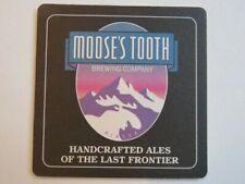 Beer Coaster ~ MOOSE'S TOOTH Brewing Co Polar Pale Ale, plus ~ Anchorage, ALASKA