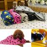 BG_ Pet Cat Dog Puppy Winter Blanket Warm Beds Mat Cover Soft Fleece Paw Print N