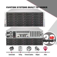 UXS Server New Supermicro 4U 36 Bay SAS3 12Gb/s FREENAS Storage UNRAID ZFS 2x10G