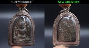 ANCIENT PHRA SOOMGOR PIM YAI KRU TUNGSEDTHI THAI AMULET OLD SILVER CASE
