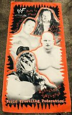 Vintage 1999 WWF Beach Towel - The Rock Kane Undertaker Stone Cold Steve Austin