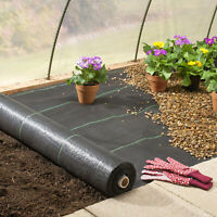3/4/6X250ft 3.2Oz/m² Woven Ground Cover Weed Control Fabric Landscape Garden