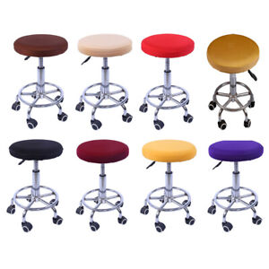 1 Piece Stretch Elastic Bar Stool Cover Round Chair Seat Cover Sleeve Covers