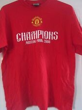 Manchester United Champions Moscow 2008 Football Leisure T Shirt Medium /41076