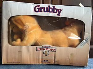 NEW OPEN BOX Vintage 1985 Original Teddy Ruxpin Friend Grubby Plush Boxed