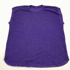 Vintage Mesh Tank Top Shirt Size Xl 1X Netted Purple Sleeveless 80's Usa Made