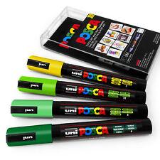 Université POSCA PC-5M ART PEINTURE stylos - Meadow tons - Jeu de 4 plastique