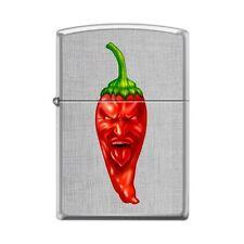 Zippo Lighter - Hot Red Pepper Linen Weave - 854063