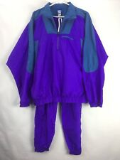 Vintage Umbro Track Suit Windbreaker Large Jacket Medium Pants Purple Teal Retro