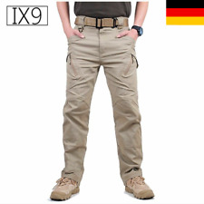 IX9 Men Military Tactical Cargo Pants Swat Army Training Hiking Hunting Hose DE