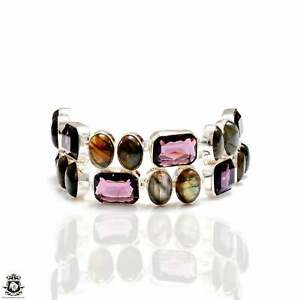 Labradorite Amethyst Bracelet B4199