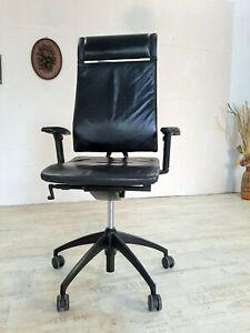 Bürostuhl Bürosessel Sedus Open Echt Leder Schwarz