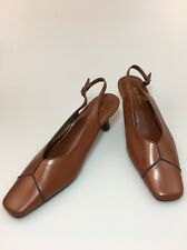 Soft Style By Hush Puppies Closed Toe Sling Back Pumps Brown 9M Vegan
