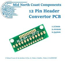 1.27mm, 2.0mm, 2.54mm Pitch Convertor PCB for Breaking out Header Pins 12 Holes