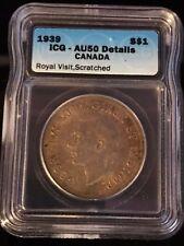 1939 Canadian $1 Coin ICG - AU50 (C357)