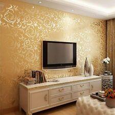 Vliestapete Barock Ornament Luxus Tapete golden 10m*0.53m TV-Hintergrund LD
